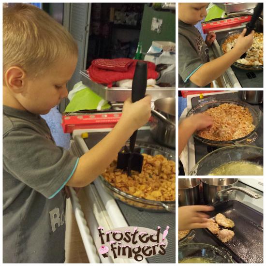 Kids in the Kitchen Making Chicken Fingers