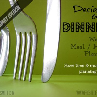 Deciding on Dinner Meal Planning Busy Family Edition December 2-8
