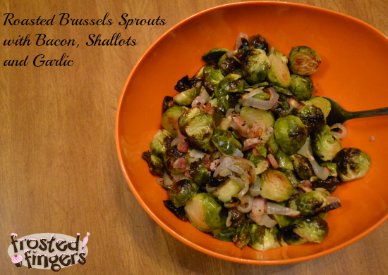 Roasted Brussels Sprouts with Bacon Shallots and Garlic #GlutenFree #MyMarianos #Shop