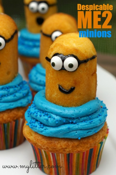 Twinkie Minion Cupcakes from MyLitter.com