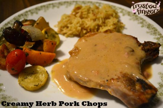 Creamy Herb Pork Chops
