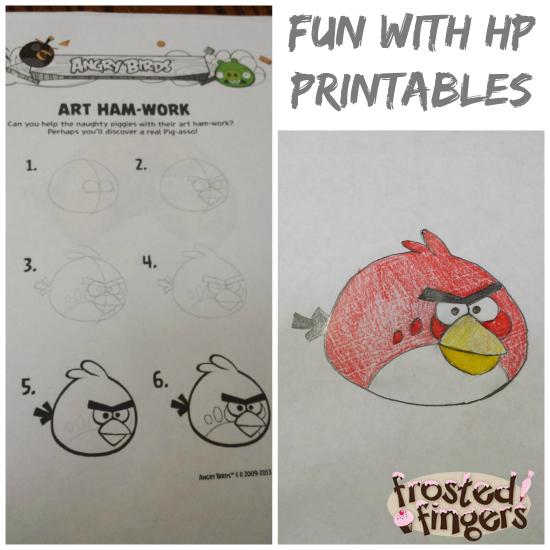 Angry Bird HP Printables Drawing