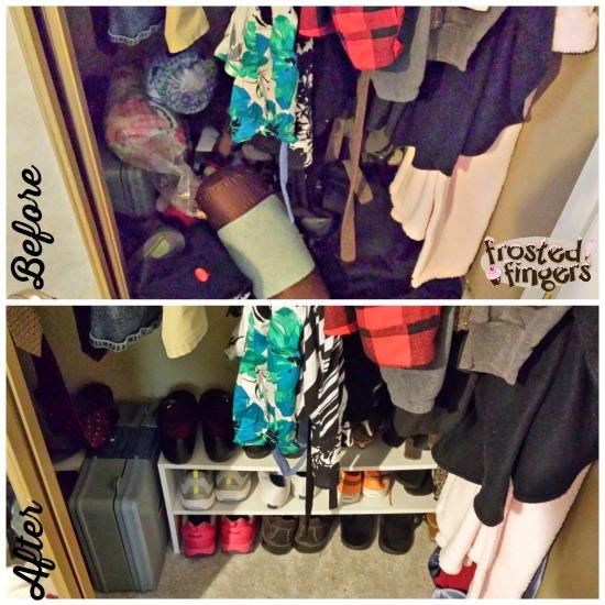 Bottom of closet