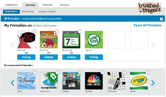 HP Printables Site