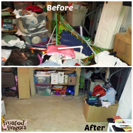 Laundry Room Before and After #40BagsIn40Days