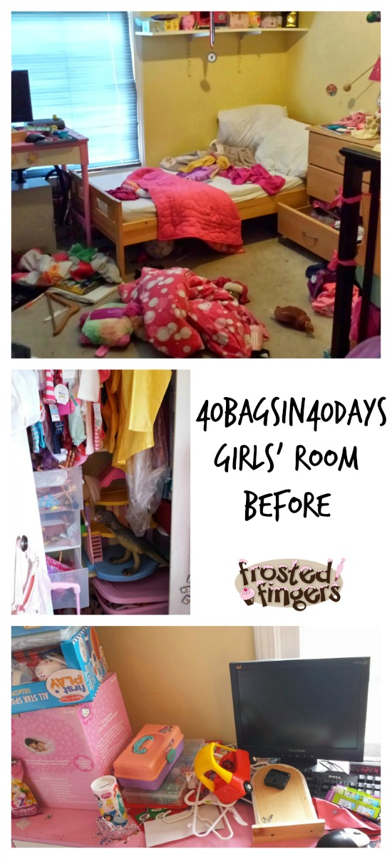#40BagsIn40Days Girls Room Before Picture