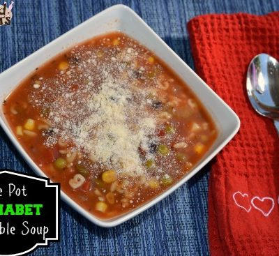 One Pot Alphabet Vegetable Soup Recipe (and good cook Build Your Drawer Sweepstakes)
