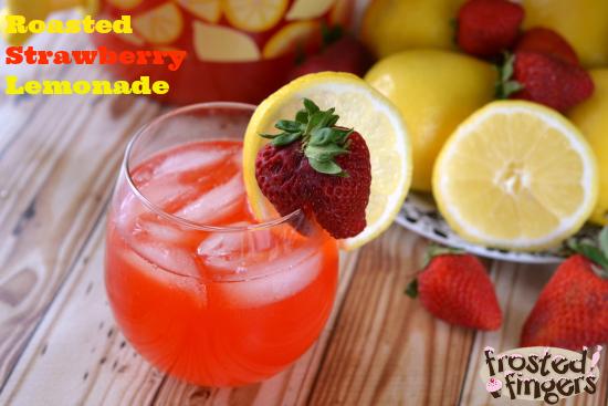 Roasted Strawberry Lemonade Recipe