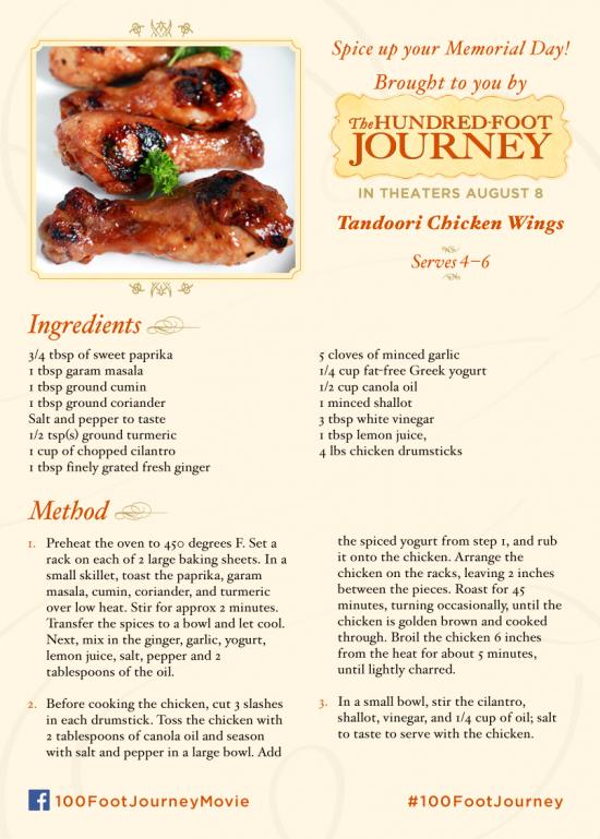 Tandoori Chicken Wings Recipe #100FootJourney