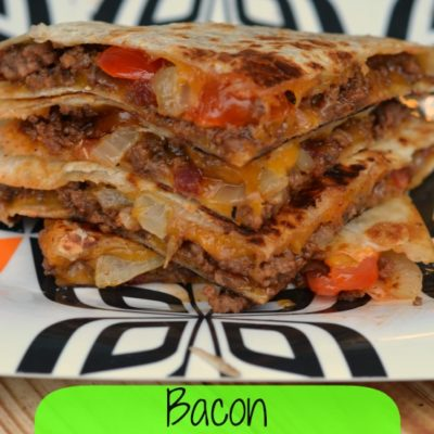Bacon BBQ Cheeseburger Quesadilla Recipe
