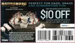 Save Money on Battroborg for your Dad or Grad!