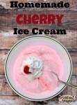 Homemade Cherry Ice Cream {National Dairy Month}
