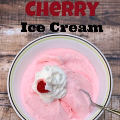 Homemade Cherry Ice Cream {National Dairy Month}