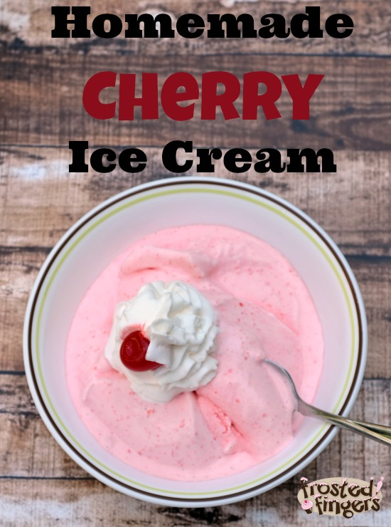 Homemade Cherry Ice Cream #DairyMonth