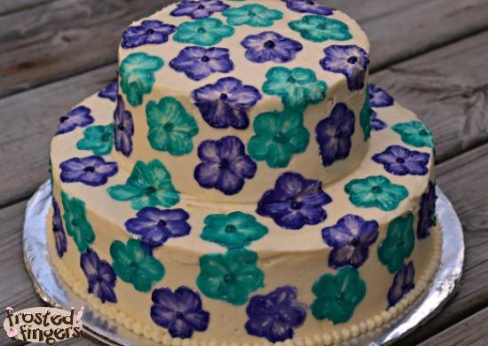 Hawaiian Flower Wedding Cake