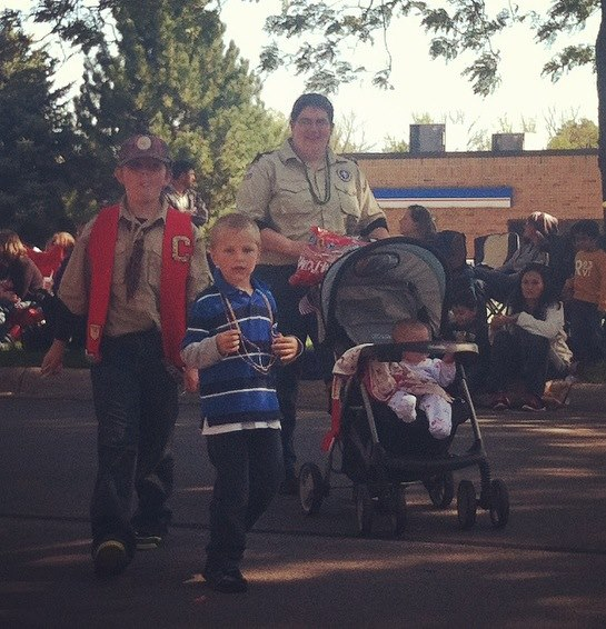 Cub Scouts Parade #BuildanAdventure