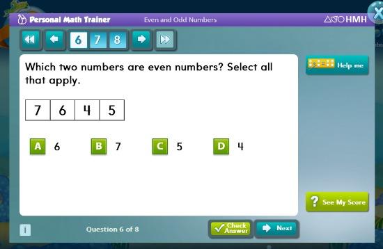 Second Grade Math Example for Go Math! Academy