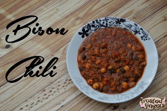 Bison Chili Recipe made from ingredients from Door to Door Organics