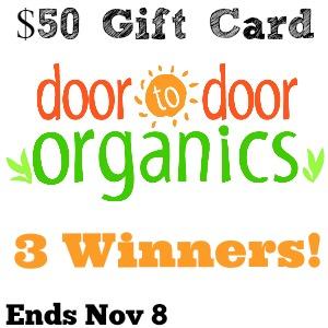 Door to Door Organics Review and Giveaway