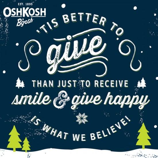 #GiveHappy with OshKosh