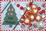 Candy Cane Kiss Pretzels