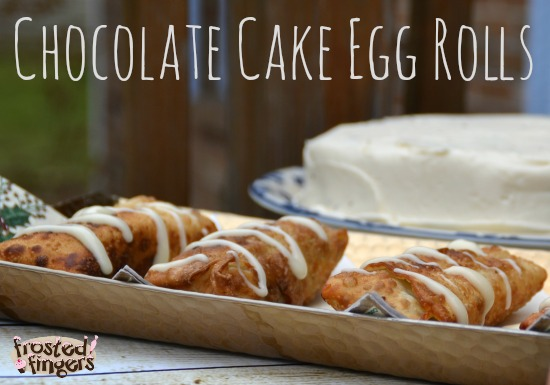 Chocolate Cake Egg Rolls