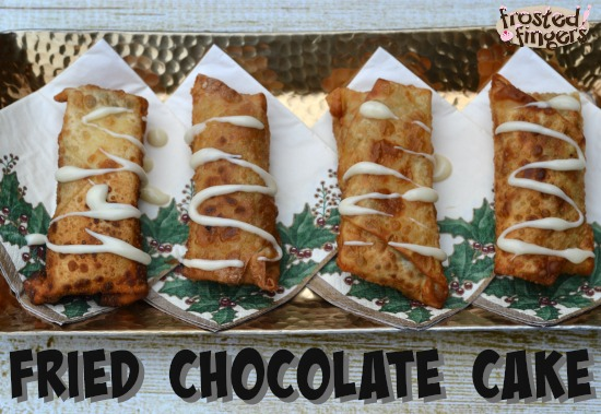 Fried Chocolate Cake Eggrolls