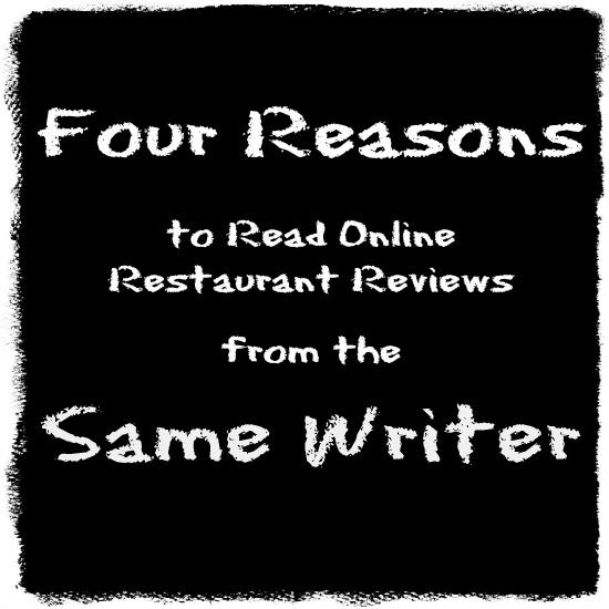 Restaurant Reviews Same Writer