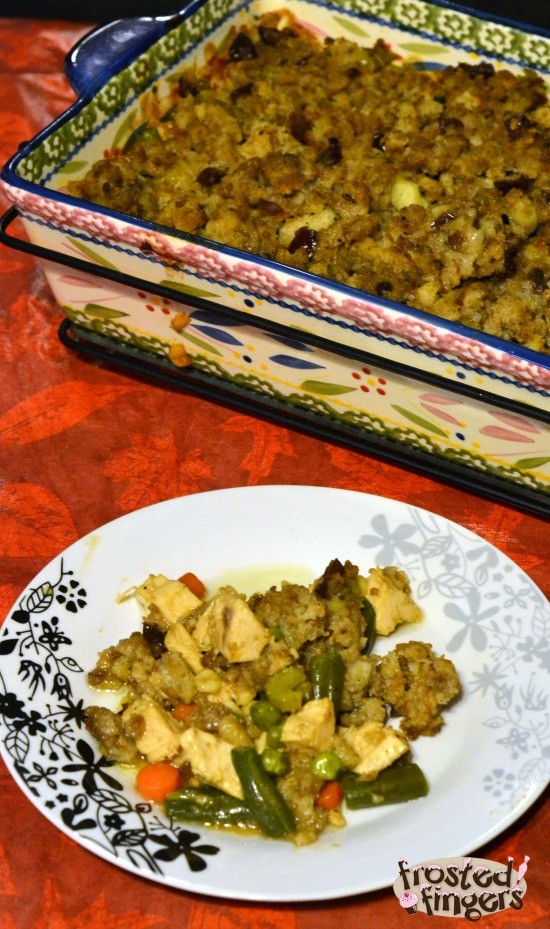 Turkey Stuffing Pot Pie