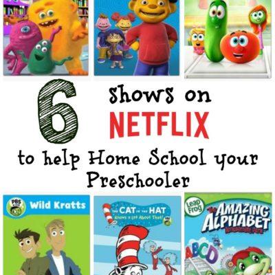6 Shows on Netflix to help Home School your Preschooler