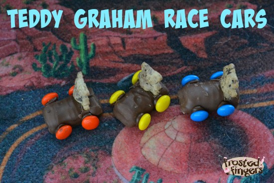 Teddy Graham Race Cars for Cub Scouts Pinewood Derby