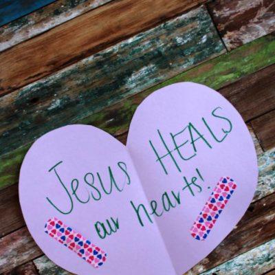 Jesus Heals Our Hearts Craft