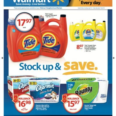 Stock and Save at Walmart on P&G Products (Plus Walmart Gift Card Giveaway)