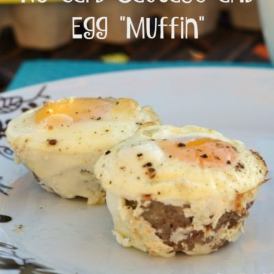 "Easy No Carb Sausage and Egg ""Muffin"" Recipe"
