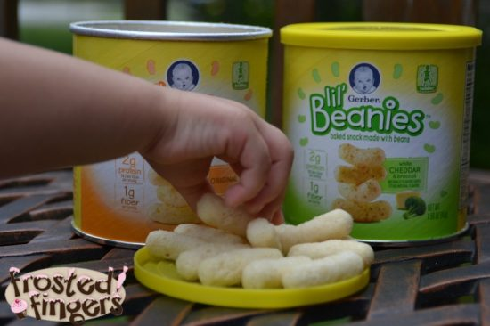 Get your toddler to snack on Gerber Lil' Beanies