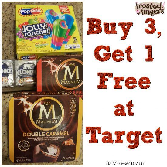 Buy 3, Get 1 Free at Target