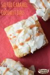 Salted Caramel Coconut Bars