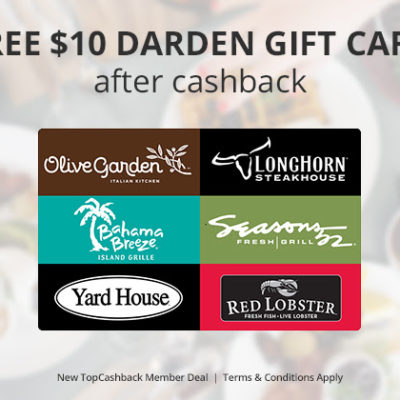 FREE $10 to Olive Garden or Red Lobster (Limited Time)
