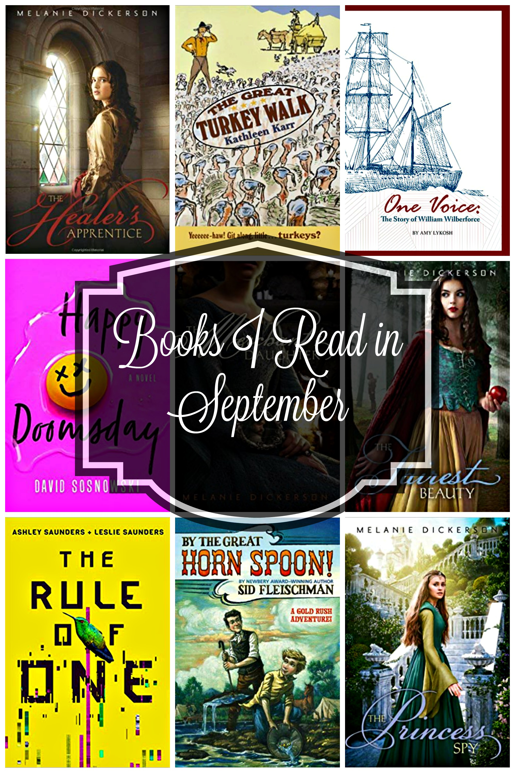Books I read in September. They range from a biography to romance and historical fiction to distopian end of the world books.