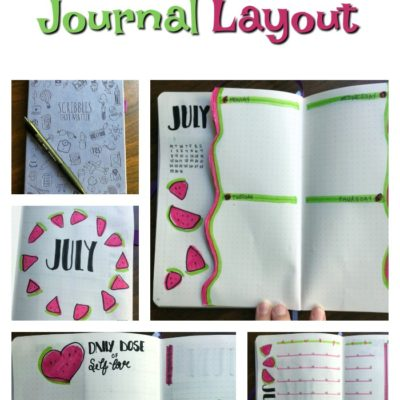 July 2019 Bullet Journal Layout